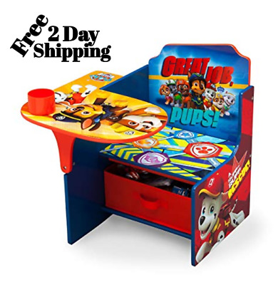 Children Chair And Desk Set Paw Patrol Toddler Play Table Snacking Watching Tv