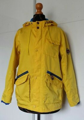 TED BAKER Boys Quality Hooded Raincoat, Age 12yrs, Yellow. VGC.