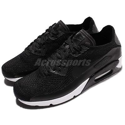01aefa46617 Nike Air Max 90 Ultra 2.0 Flyknit Black White Mens Running Shoes 875943-004