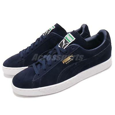 fb1d47f383654c Puma Suede Classic Peacoat Navy White Gold Men Casual Shoes Sneakers 356568 -52
