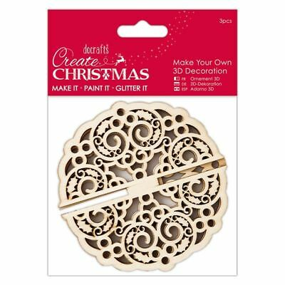 Papermania Create Christmas Make Your Own 3D Bauble Decoration by DoCrafts