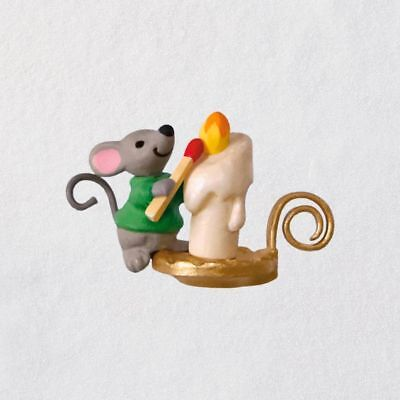 Hallmark 2018 Mini A Creature Was Stirring Mouse With Candle Ornament