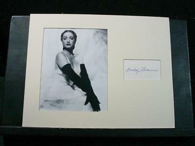 NobleSpirit NO RESERVE {3970}Magnificent Dorothy Lamour Auotgraph w/Photo
