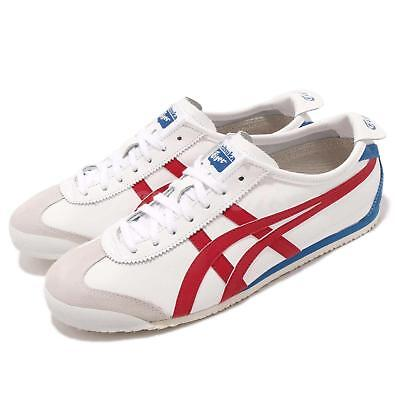 separation shoes 6e817 1cecc ASICS ONITSUKA TIGER Mexico 66 OT White Red Blue Mens Shoes Sneakers  D4J2L-0123