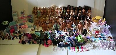 Huge Lot of Barbie Dolls, Clothing, & Accessories! 53 Dolls & 200+ Clothes