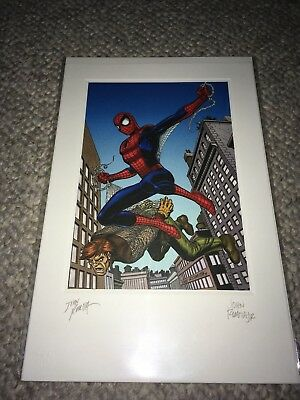 Spider-Man 2002 Litho Print Polybagged Original Signed by John Romita Sr and Jr