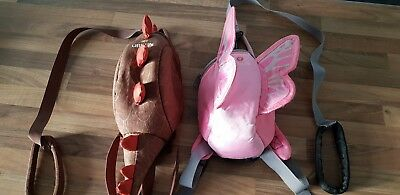 Little Life Butterfly and Dinosaur Backpack with detachable reins.