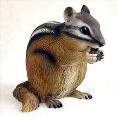 "NEW 3"" Inch Tall Chipmunk Figurine Sculpture Statue Life Like Realistic CC-AF73"