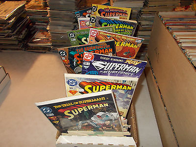 Lot of 300+ ALL Superman Titles AN ENTIRE Longbox Adventures Action Comic Book