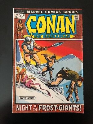"""Conan The Barbarian #16 """"Night Of The Frost-Giants!"""" (Marvel 1972) Barry Smith"""