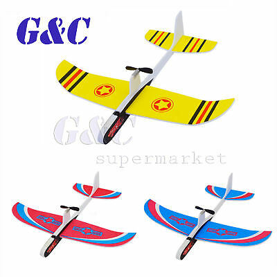 Hand Throwing Airplane Foam Capacitor Electric Glider DIY Model Kids Toy