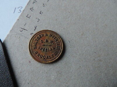 Brooklyn New York Merchant Token Saltser & Weinsier S&W Special smith & wesson ?