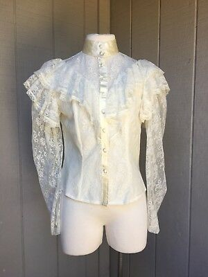 VTG Marjorie De Martino 70's Does Victorian Goth Ruffled Lace Steampunk S/M
