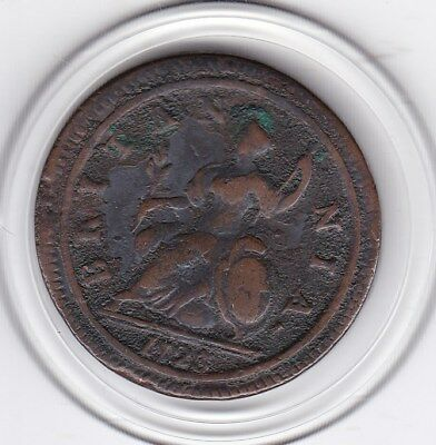 1723    King   George   Half  Penny   Copper  Coin