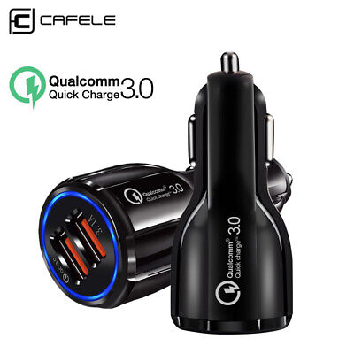 3.1A Dual USB Car Charger Adapter 2 Port LCD Display 12-24V Cigarette Socket US