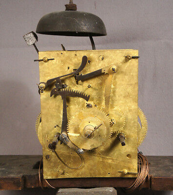Fine Antique Tall Clock 8 Day Brass Movement for Grandfather Clock