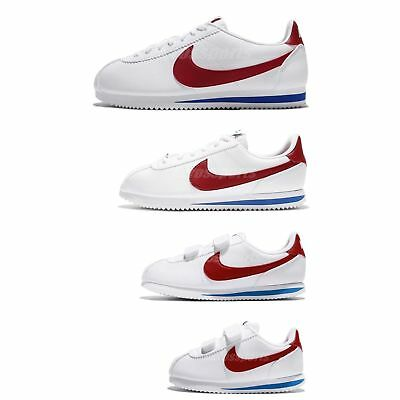 NIKE CLASSIC CORTEZ Leather OG Family Size White Red Blue