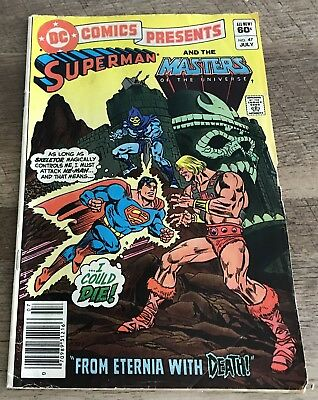 Dc Comics Presents #47 Superman He-Man Masters Of The Universe Fn July 1982