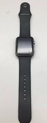 Apple Watch 42mm Space Gray w/ Black Sportband 1st Gen 7000 Series As Is D26