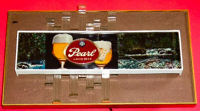 """Pearl beer """"Cocktail Lounge Sign"""" rotating wheel changes colors/waterfall motion"""