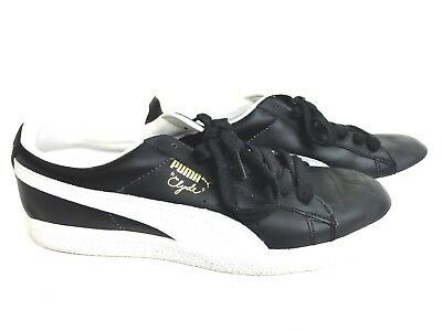 PUMA Clyde Leather Mens Athletic Shoes 9.5 Black
