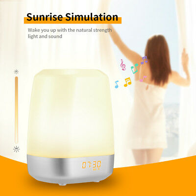 Sunrise Alarm Clock Natural Alarm Bells Wake Up Light LED Atmospheres Night Lamp
