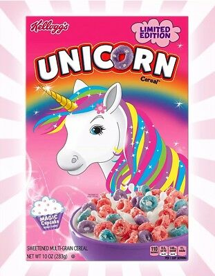 Kellogg's LIMITED EDITION UNICORN Fruit Loops Cereal Magic Cupcake 10oz