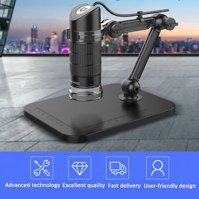 1000X 8LED USB Digital Microscope Endoscope Zoom Camera Magnifier W/ Stand US