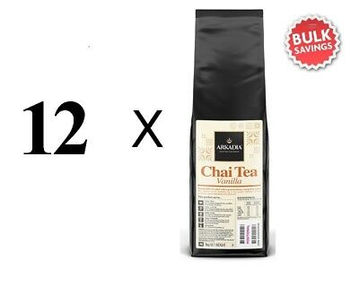 12kg Arkadia ** VANILLA ** Chai Latte Powder Cafe Use Tea (Bulk Carton Price)