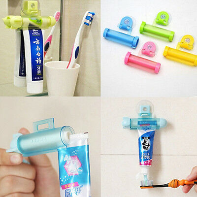 Fm- Gn- Rolling Squeezer Toothpaste Dispenser Tube Partner Sucker Hanging Holder