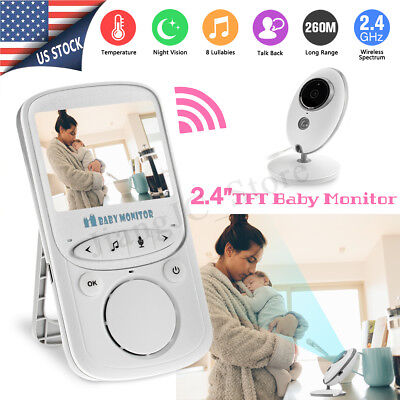 Wireless 2.4'' LCD Digital Baby Monitor Audio Video Security Camera Night Vision