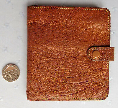 Vintage genuine leather wallet made in Britain 1950s 1960s