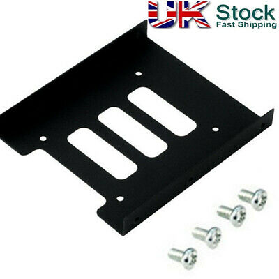 """PC 2.5"""" to 3.5"""" Metal SSD to HDD Mounting Adapter Bracket Hard Drive Holder【UK】"""