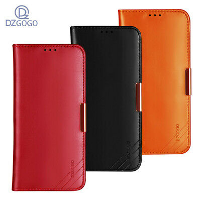 For iPhone X 8 7 6 Plus XR XS Max Genuine Leather Wallet Card Holder Case Cover