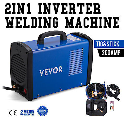 2in1 TIG Stick ARC DC Inverter Welder 200A 110/230V Dual Voltage Welding Machine