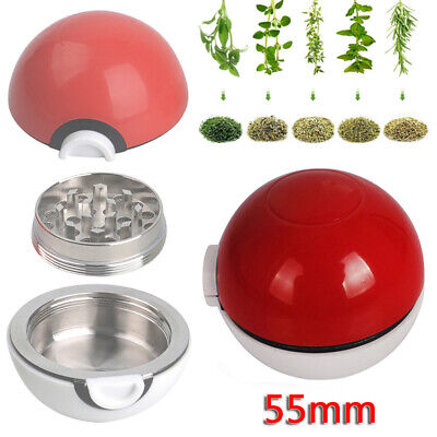 55mm Broyeur mâcheur moulin a Herbe Epice pollen 3 couches Grinder Pokeball