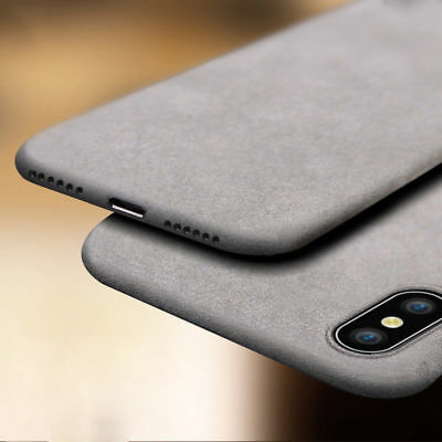 For iPhone XS Max XR X Shockproof Thin Soft TPU Sandstone Matte Back Case Cover