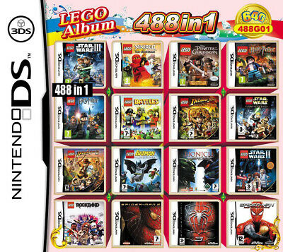 488 in 1 Multi-game cartridge video games For NDS DSL 2DS DS LITE/DSi/3DS XL LL