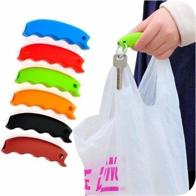 Silicone Shopping Bag Basket Carrier Grocery Holder Handle Comfortable Grip a@