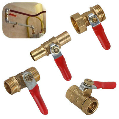 Brass Shut-off Ball Valve Barb Male/Female Thread For Water/Air/Gas Fuel Line