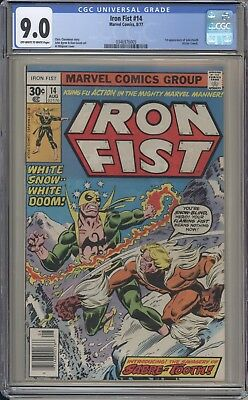 IRON FIST 14 - CGC 9.0 - First Sabretooth Appearance - High grade - Marvel