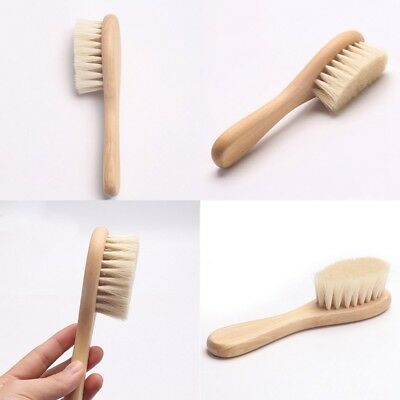 1PC Wooden Baby Hair Brush Super Soft Bristles Newborn Shampoo Brush Cleaning UK