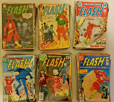 DC Comics THE FLASH Vol.1 (1959-1985) #172-350 lot of 157 all listed Silver Age