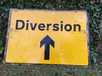 """DIVERSION STRAIGHT"" Traffic Control Management Road Sign"