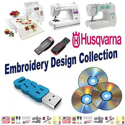 Husqvarna Viking Embroidery Designs HUS Collection