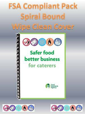 SFBB Safer Food Better Business for Caterers 2018 - FSA Compliant Pack HACCP