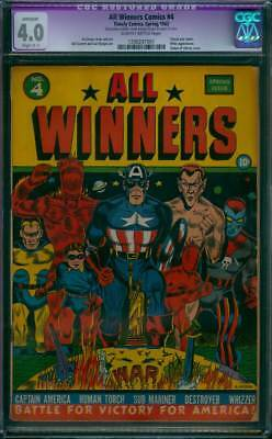 All Winners Comics # 4  Victory for America !  CGC 4.0 scarce GA Timely !