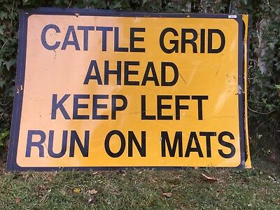 """CATTLE GRID AHEAD"" Traffic Control Management Road Sign"