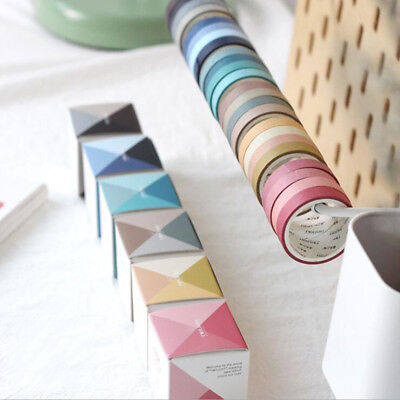 4* Fall In Love with Color Washi Tape Kawaii Scrapbooking Decorative Tapes 2019