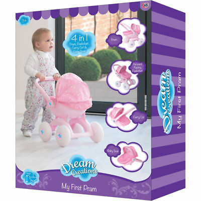 Dream Creations 4-in-1 My First Doll Pram NEW